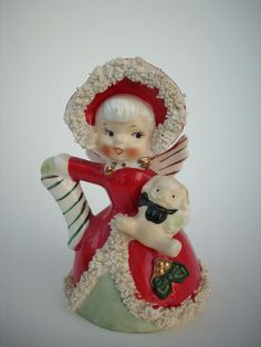 Vintage Napco Christmas Angel Girl Bell