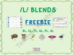 FREEBIE! Mixed /L/ Blend Articulation Game board and Worksheet from TwinSisters Speech & Language Therapy on TeachersNotebook.com -  (6 pages)  - Hello and welcome to Twin Sisters Speech & Language Therapy LLC. We are glad that you have stopped in to download another one of our many freebies that we have available for our wonderful TN followers. This recent freebie of ours targets the producti