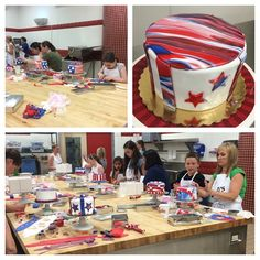Fourth of July cake decorating class!