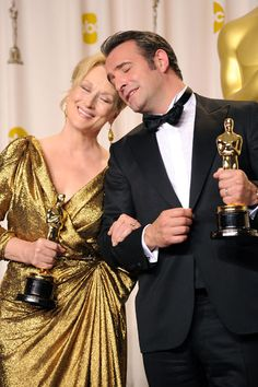 Oscar Night. And these two winners.