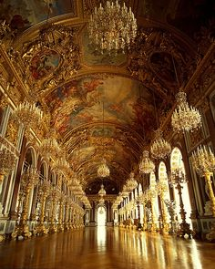 Hall of Mirrors, Herrenchiemsee Palace, Germany