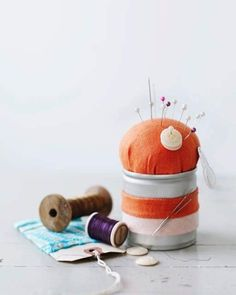 #DIY Metal Tin Pincushion by Sweet Paul