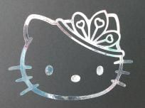 Princess Hello Kitty (Silver Holographic) Car Window Decal