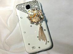 3D Handmade Deluxe Flower Crystal Design Case Cover