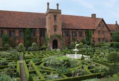 Old palace and knot garden at Hatfield House