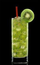 Cóctel sin alcohol Kiwi Soda...receta bebida sin, idea cocktail, sin ...