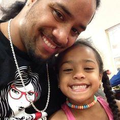 Jon Fatu & his daughter Jayla