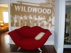 Summer Nites is a step back to the '50s   #wildwood #lips #chair
