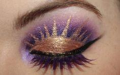 Vintage or Tacky. Fantastic makeup blog. Disney Princess series: Rapunzel. Video tutorial at link.