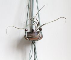 Vintage Beaded Hanging Planter