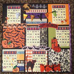 My Halloween bingo page