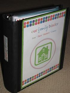 Our family binder.  Awesome organizer.