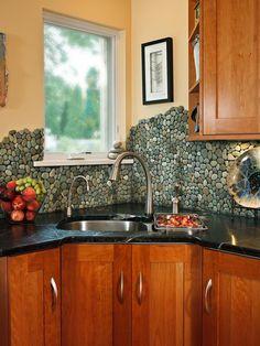 30 Trendiest Kitchen Backsplash Materials : Rooms : Home & Garden Television
