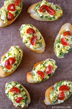Quick and Easy Breakfast Bruschetta #recipe