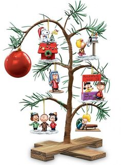 PEANUTS Classic Holiday Memories Tabletop Tree - Rediscover a Charlie Brown Christmas tradition with this officially licensed PEANUTS Classic Holiday Memories Tabletop Tree  #Christmas #Christmas2013
