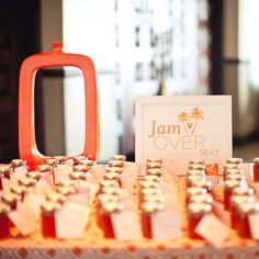 wedding favors, peach jam