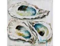 """Three Oysters"", Custom Bellamy Art - Online Fundraising Auction - BiddingForGood"