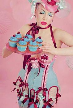 cherry blue corset, photo iberian black arts