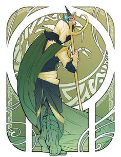 Art Nouveau Loki
