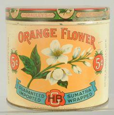 Orange Flower Tobacco Tin