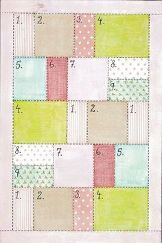 Easy quilt pattern.... but I am thinking of using it as a pattern for a backsplash on kitchen - different color scheme though