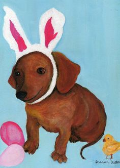 {an Easter doxie}  :)