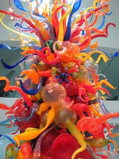 Chihuly Sculpture within the Museum.