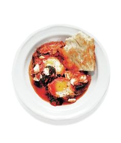 Shakshuka (Baked Eggs) With Kale recipe