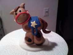 my first fondant horse By JessDesserts on CakeCentral.com