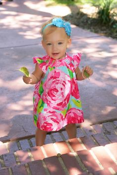 Baby girl decked out in Lilly.