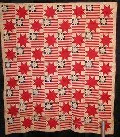 wonderful antique patriotic quilt from the 1940's