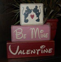 NEW Valentine's Day Blocks Be Mine Mickey by SimpleBlockSayings, $26.95