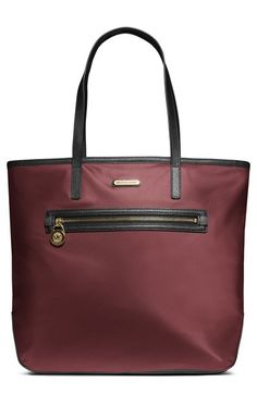 Gorgeous nylon Michael Kors tote. Perfect color for fall. And under $150.
