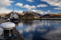 Ben Nevis and the Caledonian Canal by Derek Beattie