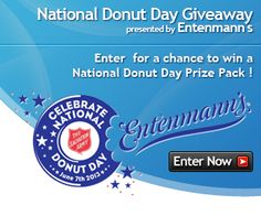 Enter the SweepstakesLovers.com National Donut Day Giveaway presented by Entenmann's for a chance to win a National Donut Day prize pack !  http://www.sweepstakeslovers.com/our-giveaways/sweepstakeslovers-com-national-donut-day-giveaway-presented-by-entenmanns/