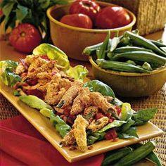 Fried Okra Salad | MyRecipes.com