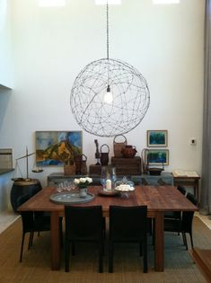 Yes, this giant orb light just made my 'must do' list. Post includes a tutorial.
