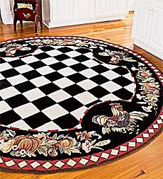 "4'10"" x 7'10"" Tuscany Rooster Rug"
