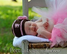 I love the chair and the outdoors idea. The cuteness of the tutu and beanie definitely is a plus!