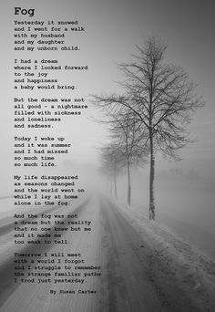 poem made by a HG sufferer/survivor about the endless fog you seem to drift in while suffering from HG