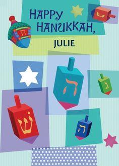Joyful Dreidels - Hanukkah Greeting Cards in Precious   Hallmark