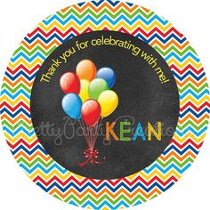 BIRTHDAY BALLOONS Primary Chalkboard by PrettyPartyCreations, $6.25