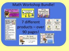Math Workshop Bundle! from Elementary Math Teacher on TeachersNotebook.com -  (90 pages)  - It's here! All of your favorite posters and printables in one convenient and cost-saving download!  This Math Workshop Bundle combines all the math workshop posters provided in my store, my best selling Math Talk bookmarks, and more!