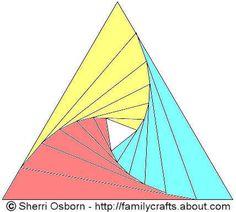 Iris folding Shablon 3