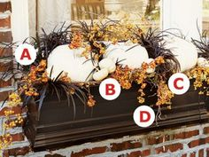 How to design a simple elegant fall windowbox