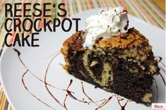 When searching for the ultimate chocolate peanut butter cake, nothing is more classic than this Slow Cooker Reese's Peanut Butter Cup Cake recipe.