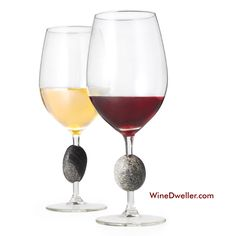 Sea Stone Wine Glasses... This one-of-a-kind wine glass is the perfect companion for a quiet evening or a party with friends. Each stone comes with a story: hand-picked from the beach, it is specia...
