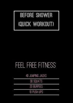 Super quick workout