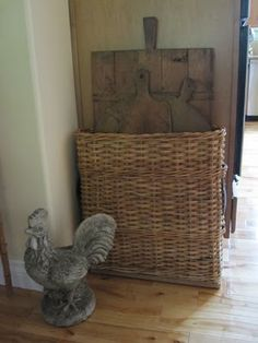 bread boards in a basket