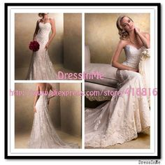 Fit and Flare Elegant Lace Wedding Dress Sweetheart Corset Destination Bridal Gown Emma-in Wedding Dresses from Apparel & Accessories on Aliexpress.com